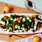 Roast Chicken, Apricot, and Goats' Cheese Salad with Pesto