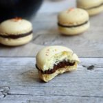 Saffron Macarons with a Dark Chocolate Cardamom Ganache